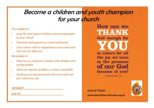Children and Youth Champions - postcard1